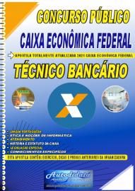 Apostila Impressa Concurso Caixa Econômica Federal 2021 Técnico Bancário