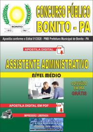 Apostila Digital Concurso Público Prefeitura de Bonito - PA 2020 Assistente Administrativo