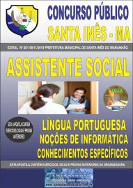Apostila Impressa Concurso Prefeitura Municipal de Santa Inês - Maranhão 2019 Assistente Social