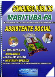 Apostila Impressa Concurso Público Prefeitura de  Marituba - PA 2020 Assistente Social