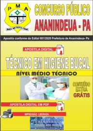 Apostila Digital Concurso Público Prefeitura de Ananindeua - PA 2020 Área Ténico em Higiene Bucal