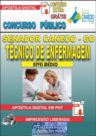 Apostila Digital SENADOR CANEDO/GO 2020 - Assistente De Saúde/ Técnico De Enfermagem