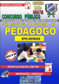 Apostila Digital concurso SÃO MIGUEL DO GUAMÁ/PA 2019 – Pedagogo