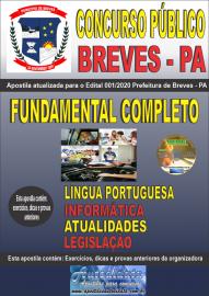 Apostila Impressa Concurso Público Prefeitura de Breves - PA 2020 Nível Fundamental Completo