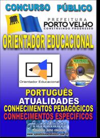 Apostila Impressa Concurso de PORTO VELHO/RO 2019 –Orientador Educacional