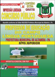 Apostila Digital Concurso Público Prefeitura Municipal de Altamira - Pa 2020 Área Professor de Educação do Campo - Língua Portuguesa