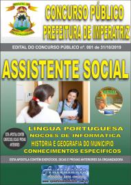 Apostila Impressa Concurso - Prefeitura Municipal de Imperatriz - MA 2019 - Assistente Social