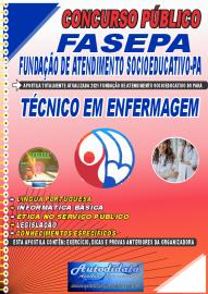 Apostila Impressa Concurso FASEPA-Fundação de Atendimento Socioeducativo-PA 2021 Técnico em Enfermagem
