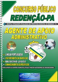 Apostila Impressa Concurso Público Prefeitura de Redenção - PA 2020 Agente de Apoio Administrativo