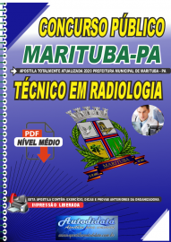 Apostila Digital Concurso Público Prefeitura de  Marituba - PA 2020 Técnico em Radiologia