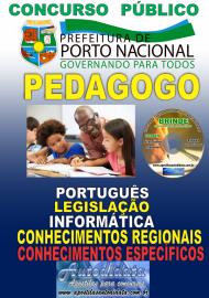 Apostila Impressa Concurso da Prefeitura de Porto Nacional - TO – 2019 - Pedagogo