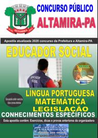 Apostila Impressa Concurso Prefeitura de Altamira - PA 2020 - Educador Social