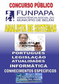 Apostila impressa concurso da FUNPAPA-PA 2018 - Analista de Sistemas