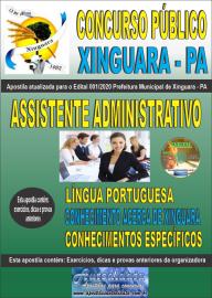 Apostila Impressa Concurso Público Prefeitura de Xinguara - PA 2020 Assistente Administrativo