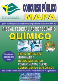 Apostila Impressa Concurso Público do MAPA - 2020 Fiscal Federal Agropecuário - Químico