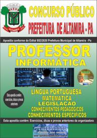 Apostila Impressa Concurso Prefeitura Altamira 2020 Área Professor de Informática