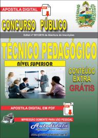 Apostila Digital Concurso Prefeitura Municipal de Tucumã - PA 2019 Técnico em Pedagógico