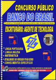 Apostila impressa Banco do Brasil 2021 - Escriturário: Agente de Tecnologia
