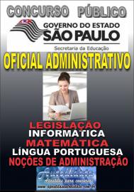 Apostila Impressa Concurso SECRETARIA DE EDUCAÇÃO - SEE - SP - 2019 - Oficial Administrativo