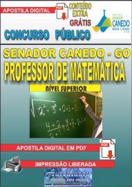 Apostila Digital SENADOR CANEDO/GO 2020 - Professor De Matemática