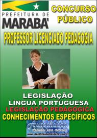 Apostila Impressa Concurso MARABÁ - PA 2018 - Professor Licenciado em Pedagogia