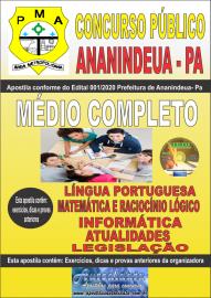 Apostila Impressa Concurso Público Prefeitura de Ananindeua - PA 2020 Nível Médio Completo