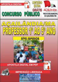 Apostila Digital Açailândia/MA 2019 - Professor Do 1º Ao 5º Ano