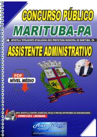 Apostila Digital Concurso Público Prefeitura de  Marituba - PA 2020  Assistente Administrativo
