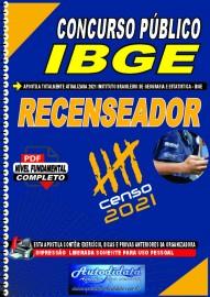 Apostila digital concurso do IBGE 2021 - Instituto Brasileiro de Geografia e Estatística - RECENSEADOR