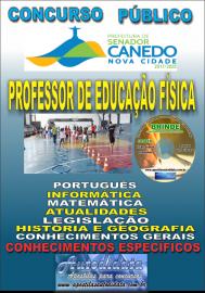 Apostila Impressa SENADOR CANEDO/GO 2020 - Professor De Educação Física