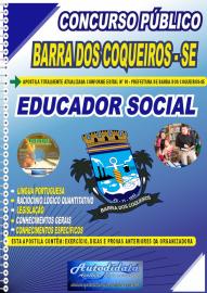 Apostila Impressa Concurso Público Prefeitura de Barra dos Coqueiros - SE 2020 Educador Social