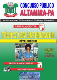 Apostila Digital Concurso Prefeitura de Altamira - PA 2020 -  Técnico Em Enfermagem