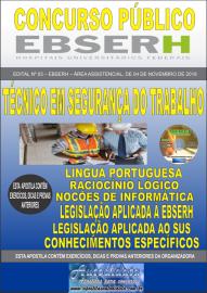 Apostila Impressa Concurso EBSERH - 2019 Técnico em Segurança do Trabalho