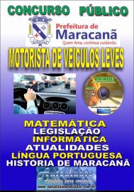 Apostila Impressa Concurso de Maracanã/Pa 2019 – Motorista De Veículos Leves - Categoria A e B