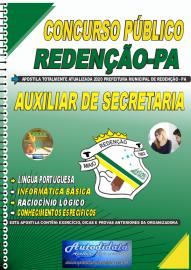 Apostila Impressa Concurso Público Prefeitura de Redenção - PA 2020 Auxiliar de Secretaria