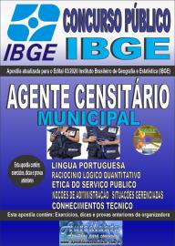 Apostila Impressa Concurso Público Instituto Brasileiro de Geografia e Estatística (IBGE) 2020 Agente Censitário Municipal (ACM)