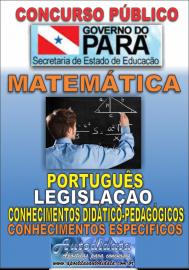 Apostila Impressa Concurso SEDUC-PA 2018 - Professor de Matemática