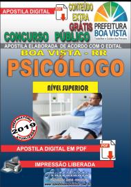 Apostila Digital BOA VISTA/RR 2019 - Psicólogo