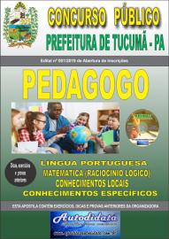 Apostila Impressa Concurso Prefeitura Municipal de Tucumã - PA 2019 Pedagogo