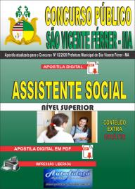 Apostila Digital Concurso Público São Vicente Férrer - MA 2020 Assistente Social