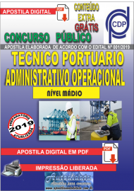 Apostila Digital Concurso COMPANHIA DOCAS DO PARÁ - 2019 - Técnico Portuário - Administrativo Operacional