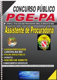 Apostila impressa concurso da Procuradoria Geral do Estado do Pará -PGE - PA 2021 - Assistente de Procuradoria
