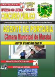 Apostila digital concurso público Câmara Municipal de Marabá - Pa 2020 Nível Fundamental  Agente de Portaria