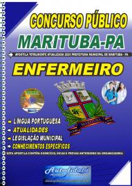 Apostila Impressa Concurso Público Prefeitura de  Marituba - PA 2020 Enfermeiro