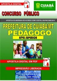 Apostila digital Concurso CUIABÁ - MT - 2019 - PEDAGOGO