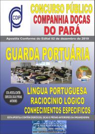 Apostila impressa concurso público Companhia Docas do Pará - 2020 Nível Médio Guarda Portuária