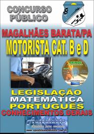 Apostila Impressa Concurso de MAGALHÃES BARATA/PA 2019 – Motorista B e D