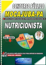 Apostila Digital Concurso Público Prefeitura de Mocajuba - PA 2021 Nutricionista