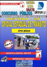 Apostila Digital Concurso DETRAN - SP -  2019 - Oficial Estadual De Trânsito