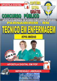 Apostila Digital Concurso PARNAMIRIM – RN/2019 - Técnico em Enfermagem ESF